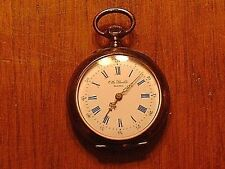 Antique Otto Stoekle .800 Silver Open Face Ladies Pocket Watch Excellent Cond.