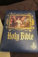 Vintage 1988 Masonic Family Holy Bible Red Letter Edition Illustrated 1988