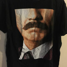 Will Ferrell Ron Burgundy Anchorman 2 The Legend Continues Mustache T Shirt M