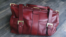 ORIGINAL AIGNER WEEKENDER VINTAGE TRAVELCASE PELLE LEATHER RED DOCTORSBAG