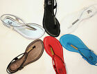 New Women T- Strap Thong Flat Sandals Shoes Size