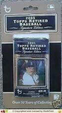 2005 Topps Retired Baseball Signature Edition Factory Sealed Pack -1 Auto a Pack