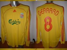 Liverpool Adidas L/S GERRARD Shirt Adult XL Top Euro Jersey Soccer Football Rare