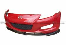TK Style Front Bumper Lip 3Pcs For Mazda RX8 03-08 Early FRP + Carbon Fiber