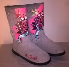 Don Ed Hardy leather woman boots