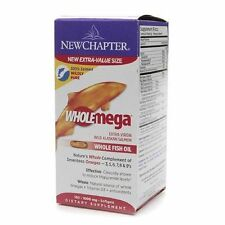 New Chapter Wholemega, Whole Fish Oil with Omegas and Vitamin D3 - 180 ct,1000