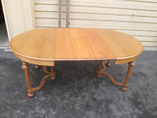 """56620   Antique Oak Dining table w/ 3 leafs   48"""" x 75"""" top"""