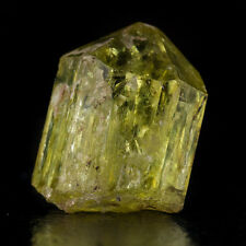 ".9"" Flashy WetLook Terminated Gemmy Yellow/Green APATITE Crystal Mexico for sale"