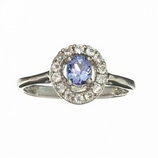 APP: 0.7k 0.55CT Tanzanite And Colorless Topaz Platinum Over Ster... Lot 1643597