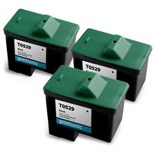 3 PK T0529 Dell Series 1 Black Ink Cartridge Photo All in One A920 720