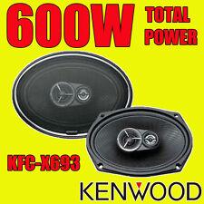 """KENWOOD 6""""x9"""" 6x9 600W 3-way total Estante Oval Cubierta Posterior del Coche Altavoces De Calidad HQ"""