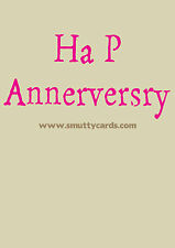 Ha P Annerversry ~ Pedant Grammar Anniversary Card ~ Potty Mouth Cards  PMWL1512