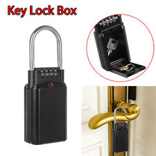 Key Lock Box with 4 Digit Key Security High Quality Padlock-Door Handle Portable