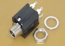 "1/4"" Switched Jack Socket Panel Mount Connector #JS01"
