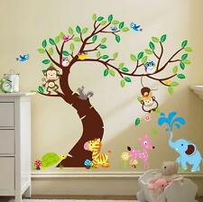 Wall Decal Stickers muraux animaux forêt pépinière jeux Baby Monkey nursery