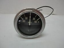 Vintage Stewart Warner SW Amp Meter -60-0-60+ Gauge  # 826539  Use With Shunt