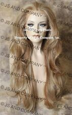 Hi Heat LACE FRONT WIG Long Wavy Strawberry Blonde Mix EMLY 27-613