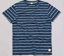 ($80) NWT DEUS EX MACHINA TEE SIZE S DENZIL INDIGO POCKET BLUE T-SHIRT STRIPE