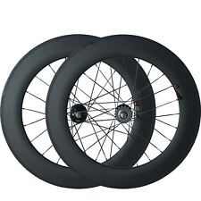 88mm Full Carbon Tubular Track Wheelset fixed gear single speed Wheels 700C
