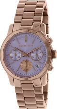 Michael Kors Women's Runway MK6163 Rose Gold Stainless-Steel Quartz Watch