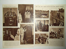 """CRICKET LOT OF 2 VINTAGE PAGES """"ROBOT BOWLER"""" & """"LONG TOM"""" CAMERA DATED 1948"""
