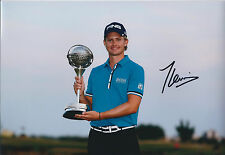 TOM LEWIS SIGNED Autograph Portugal Masters Winner 12x8 Photo AFTAL GOLF