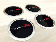 Aufkleber Embleme für Radkappen 4 x 60 mm für TYPE R schwarz rot silber neu