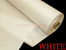 """23 Metre x 137cm Wide 100% Cotton Sateen White Curtain Fabric Lining 54"""" Wide"""