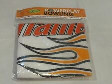 Powerplay bowling towel Strike force large flame thrower bowl flaming NEW