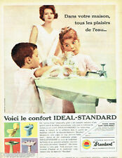 PUBLICITE ADVERTISING 125  1960  Idéal-Standard salle de bains  wc sanitaires