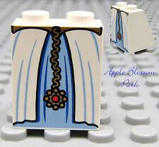 NEW Lego Female Girl MINIFIG SKIRT White/Blue Print - Princess/Queen Dress Slope