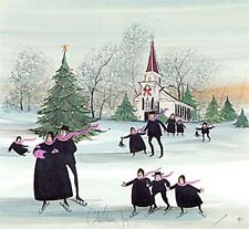 """ CHRISTMAS JOY  ""  - Pat Buckley Moss- Ltd Ed  Print"