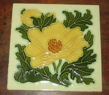 PILKINGTON TILE ART NOUVEAU PROBABLY LEWIS DAY DESIGN CIRC EARLY 20TH CENTURY