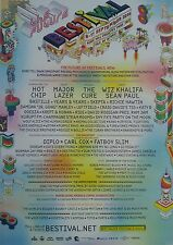 2016 BESTIVAL FESTIVAL ISLE OF WIGHT A3 POSTER FATBOY SLIM DIPLO YEARS & YEARS.