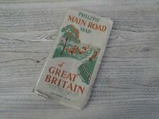 Vintage Philips Main Road Map Of Great Britain 16 Miles To Inch George Philip