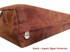41''x27''x4'' MicroSuede Fabric Brown Gusset Luxury Dog Bed L Replacement Cover