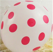 10 pcs Latex Polka Dot Balloon Party Wedding Birthday Decorating Holiday 12""