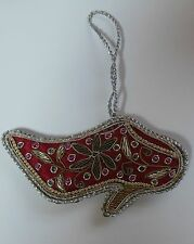 Hand Crafted Beaded Shoe Ornament