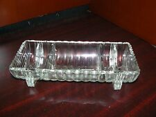 Antique Replacement Clear Glass Base for Ashtray and Cigarette Holder Rare
