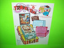 Williams TRAVEL TIME Original 1975 Flipper Game Pinball Machine Promo Flyer