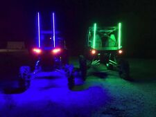 2ft quick disconnect BLUE LED light whip SXS ATV UTV rzr 4 wheeler RZR TERYX