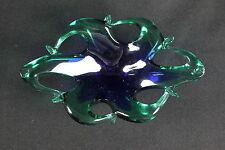 Kleine Muranoschale Murano Schale blau grün geschwungen selten