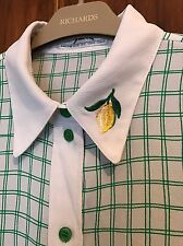 Vintage 1980s Ladies Shirt With Lemon Embroidered Collar Size 12