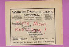 DRESDEN, Werbung 1920, Wilhelm Pramann GmbH Erbswurst Suppen-Mehle-Würze