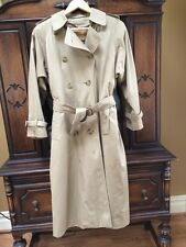 Burberry Prorsum Trench Coat Vintage Gently Worn Wms 6  Wool Collar/Lining