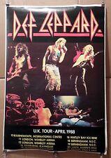 DEF LEPPARD UK Tour Poster APRIL 1988   25 x 37 Nice! Big! Frame it!