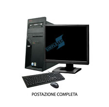 "PC COMPUTER POSTAZIONE COMPLETA INTEL LCD 19"" 2GB WINDOWS 7 SEVEN PROFESSIONAL"