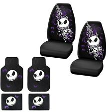 NEW 6PC SET NIGHTMARE BEFORE CHRISTMAS CAR TURCK FRONT FLOOR MATS & SEAT COVERS