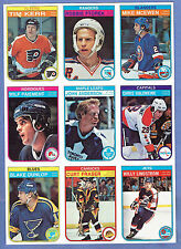 1982-83 OPC Proof Production 9-Panel, Paiment, Ftorek, Kerr, Anderson...