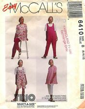 1993 McCall's 6410 Sewing Pattern: Maternity Tunic Jumpsuit Pants In Two Lengths